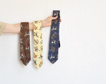 Polo Ralph Lauren necktie set of three . preppy equestrian menswear .sale