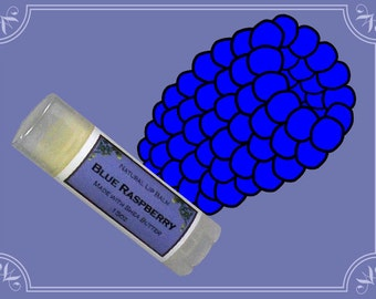 BLUE RASPBERRY Lip Balm made with Shea Butter - .15oz Oval Tube