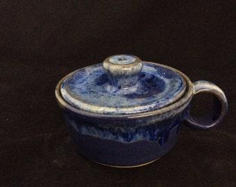 Egg Poacher/ Handmade/ Deep Sea Blue Glaze
