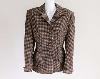 Braunell Ltd. Checked Wool Jacket- Sz M