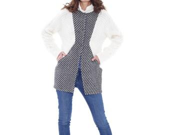 Women Coat, Wool Jacket, White Coat, Women Winter Coat, Elegant Jacket, Boho Maxi Coat, Warm Jacket, Plus Size Coat, Fashion Jacket