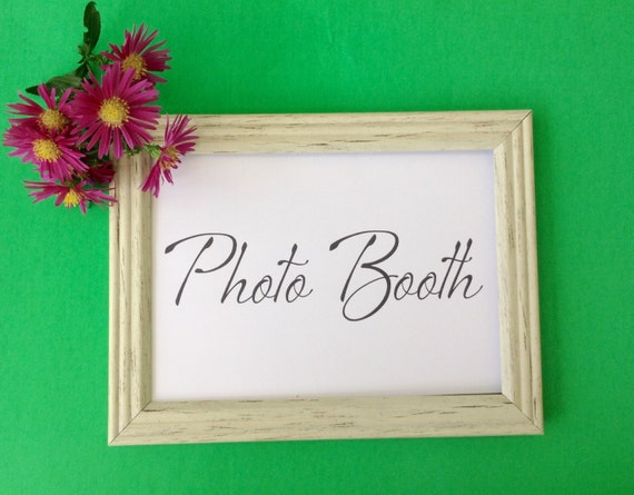 Photo Booth, Printable Sign, Party Sign, Wedding Sign