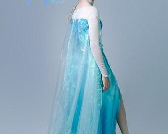 ELSA DRESS for Adults and teens, Custom Frozen Costume, Elsa Snow Queen, Elsa Cosplay, Elsa Disney Princess dress, Halloween Costume