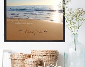 Baptism Gift -  Hope Sign - Beach Bathroom Decor - Beach Sign -  Beach Spa Sign - Housewarming Gift - Beach Decor - Beach Bedroom Decor -