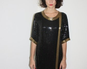 Wrap me up sequin holiday dress