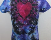 Tie Dye T-shirt Size Large Heart with Aura