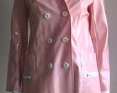 reserved 70s French vintage vinyl coat