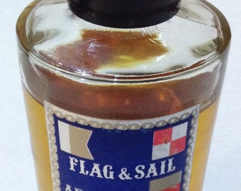 Discounted 20%~Vintage~1960s~Huntley~Flag & Sail • Admiral~Men's After Shave Splash~Fragrance~4 Ounce Size~St Louis Missouri