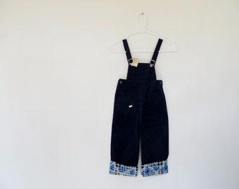 Vintage 1950s Overalls / 1940s Overalls / Vintage Corduroys / Deadstock Overalls / 1950s Pants / Rockabilly Child Size 5 Deadstock Corduroy