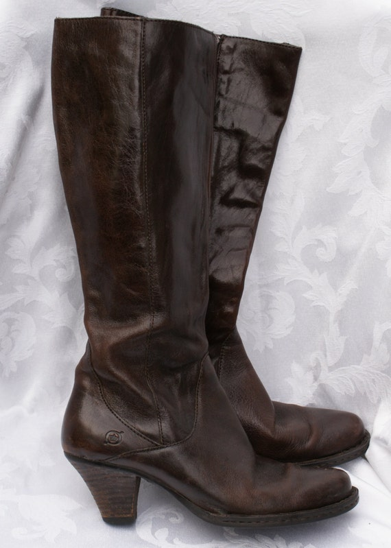 items similar to vintage boots vintage leather boots born