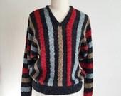 1970s 1980s Wool-blend Bouclè Batwing Sweater