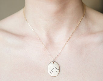 Limited Edition Mountain Range Necklace / We are made to conquer mountains