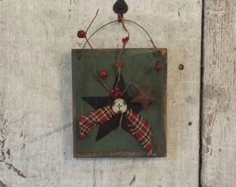 Primitive Country Star,Star with Pip Berries,Painted Star, Country Star, Primitive Decor,Country Decor,Rustic Decor