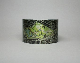 Map Bracelet Brooklyn Prospect Park New York City NYC Unique Gift for Men or Women