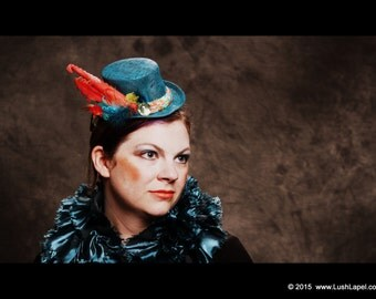 Kraken Tentacle Tophat Fascinator:  Victorian Style Tophat with Octopus Arm Accents