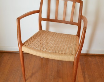 Danish Modern JL Moller Model 66 Teak Arm Chair