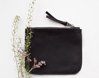 Black Leather Coin Purse No. Cp-4002