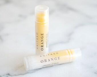 O R A N G E - Sweet Orange Oil Scented, Organic Lip Balm, Natural Lip Balm