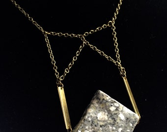 Slab necklace