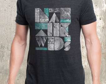 Into the Woods Men's T-Shirt - American Apparel Men's Tri-Blend T-Shirt