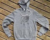 Bulldog Hoodie, Gym Shirt, Gift for a Guy, Dog Sweatshirt, S,M,L,XL,2XL