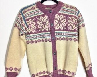 L.L. Bean Wool Snowflake Cardigan