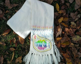 Sale***WOMEN'S PHISH SCARF Get Down Upcycled Phish Phunky Winter Scarf Accessories, ready to ship, Free gift wrap option