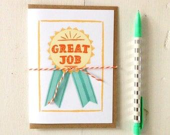 Great Job Ribbon Card