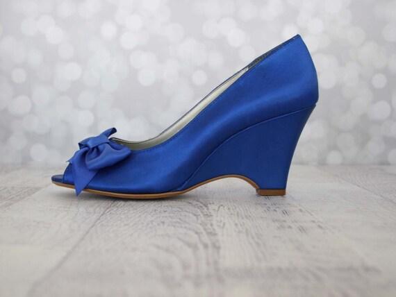 Royal Blue Wedding Heels: Wedding Shoes Blue Wedding Shoes Blue Wedge Shoes Something