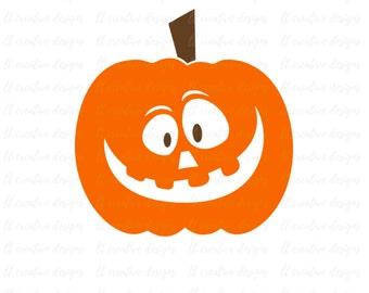 Pumpkin Jack - O- Lantern SVG, Pumpkin SVG, Pumpkin Face SVG, Halloween Svg, Fall Svg, Silhouette Cut Files, Cricut Cut Files