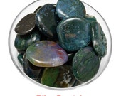 1 GREEN MOSS AGATE Tumbled & Polished Palm Stone Crystal, Healing Crystals and Stones