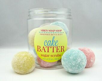 Cake Batter Sugar Scrub Cubes, Sugar Scrub, Cake Batter