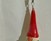 Swedish Tomte with Red Hat ~ Polymer Clay Pendant ~  Tomte Nisse ~ Scandinavian Christmas Gnome by Classon Creations