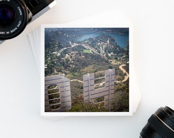 Hollywood Sign, Travel Photography, Affordable Wall Art, Los Angeles, City Photography, Home Decor, Urban, Square Print, Hollywood