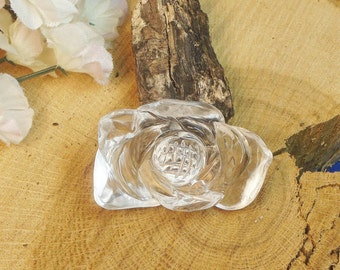 145 Ct. Clear Quartz Sunflower, 1 13/16 x 1 1/8 inchFigurine, Feng Shui, Stress Relief Figurine, Worry Stone