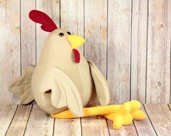 Chicken Plush Toy, Chicken Stuffed Toy, Rooster, Hen, Barnyard Animal, Chicken Plushie, Chickens, Chicken farm, Chicken Coop