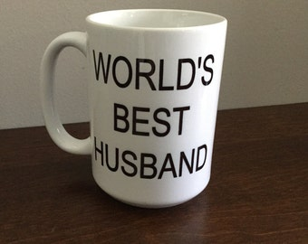 worlds best husband - Coffee Mug - custom text/color(s)