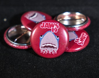 Jaws 19 (Red) | Back to the Future: Part 2 | 1-inch Button