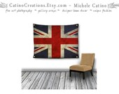 Art Tapestry Large Wall Hanging Union Jack Flag banner home decor patriotic dorm decor UK stripes vintage look