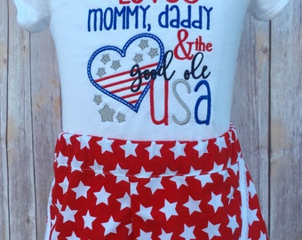 Toddler 4th of July outfit, Girl July 4th Outfit, Fourth of July outfit, Toddler July 4th Outfit, Girl fourth of July outfit
