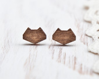 Brown Cat, Studs Earring, Small Earrings, Many color variations