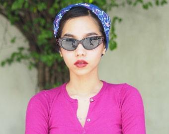 Vintage Sunglasses Cat eye Frames 1960's Black with Red Rhinestones