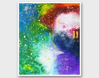 Abstract office art Modern wall art PRINT Abstract wall art Modern art Modern wall decor Abstract art print Colorful abstract home decor