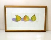 mary ellen golden original watercolor pear painting artwork