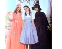 Dorothy Costume, Glenda, Evil Witch Wizard of Oz Costume Sewing Pattern - Sizes 6 8 10 12 - Bust 30 to 34 - Simplicity 4136 UNCUT Halloween