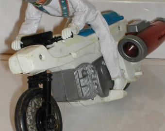 Evel Knievel Rocket Bike with Rider Vintage Toy Free US Shipping