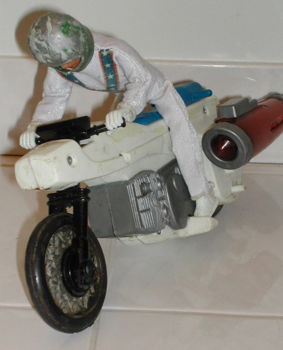 evel knievel rocket bike with rider vintage toy free us. Black Bedroom Furniture Sets. Home Design Ideas