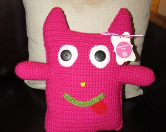 Stuffed Animal - Hot Pink Monster Pillow