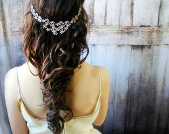 Wedding headpiece, wedding headband, wedding hair jewelry, wedding head chain, wedding hair accessories, wedding jewelry