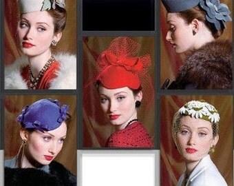 Vogue V8008 Misses' Vintage Style Hats Sewing Pattern Reissue Hard To Find